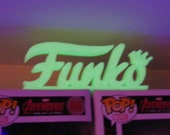 Custom Funko Display Stand Logo Glow In The Dark - Funko Pop Shelf - Funko Pop Display - Custom Funko Pop -Custom Funko Custom Wall Stand