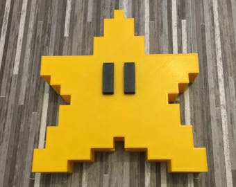 Super Mario Star Decoration - Tree Topper - Thick Mario Star - Star Power - 3D Printed - NES games - Christmas Tree Topper - Christmas Gift