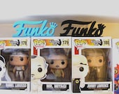 The Funko Logo a must for any Funko Collector, Make your Funko Display Pop. Create a custom display on your Funko POP Shelf. POP Funko.