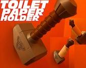 Thor Mjoinir Hammer Toilet Paper Holder - Loo roll holder - tp holder - avengers toilet roll holder - toilet paper stand - toilet paper roll