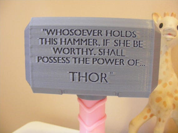 NURSERY GIFT Baby Thor Gifts Thor/'s Mjoinir Hammer Thor Baby Rattle Toy