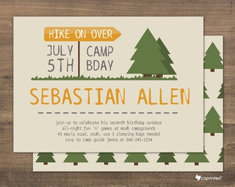 Nature invitation etsy wilderness poster birthday party invitation birthday party invitation wilderness outdoor camping woods trees nature template stopboris Gallery