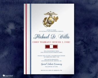 Us Marine Invitation Etsy