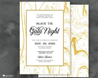 gala night invite etsy
