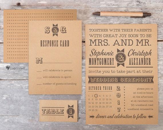 Western Country Wedding Invitation Rustic Barn