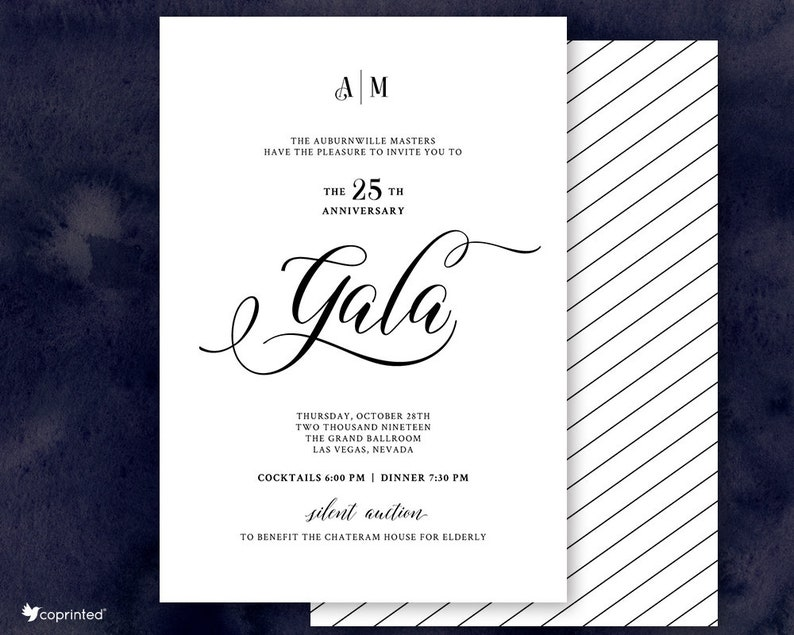 Event Company Gala Invitations Luxury Event Charity Corporate Etsy