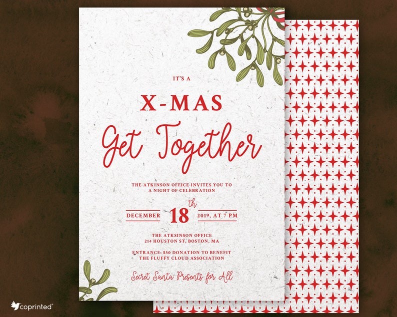 Christmas Get Together Office Party Invitation Corporate ...