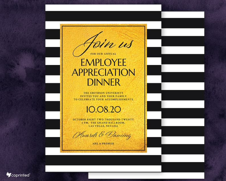 Client Employee Appreciation Dinner Corporate Lunch Invitation Etsy