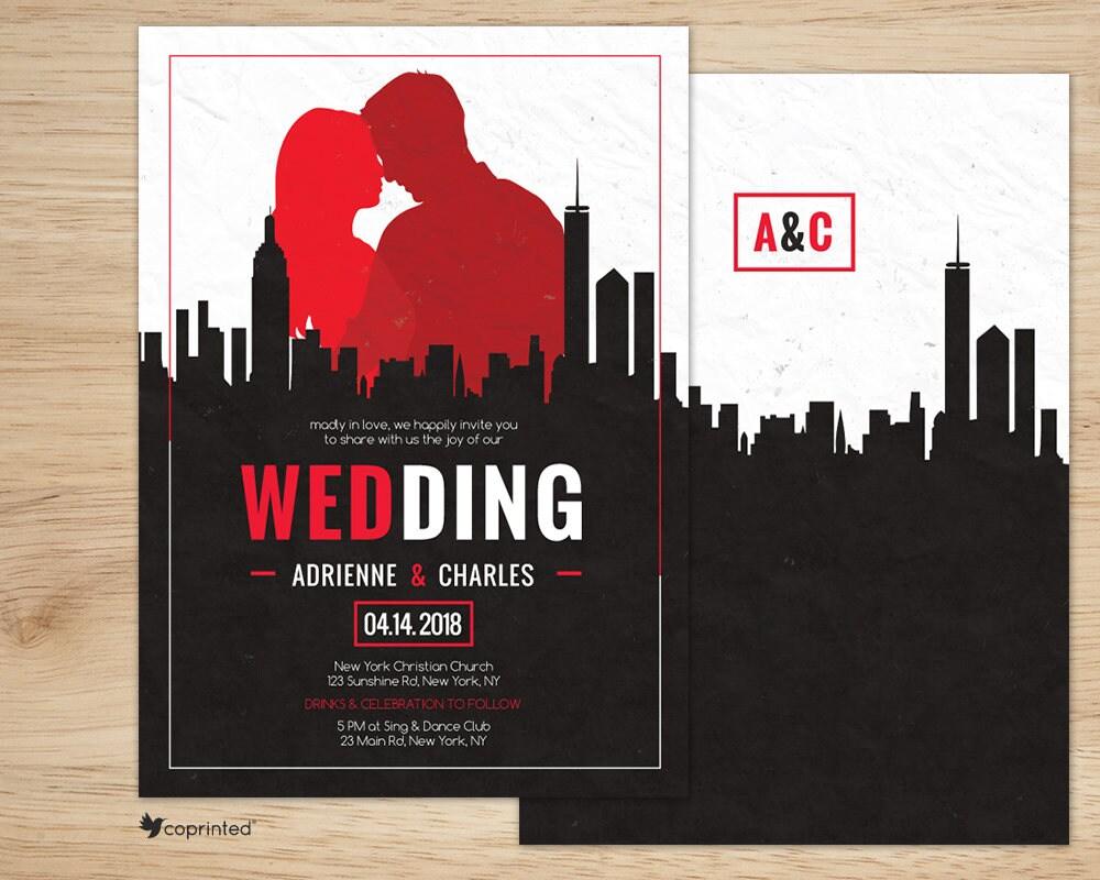 Mad Men Invitation 50s Wedding Invitations Mad Men | Etsy