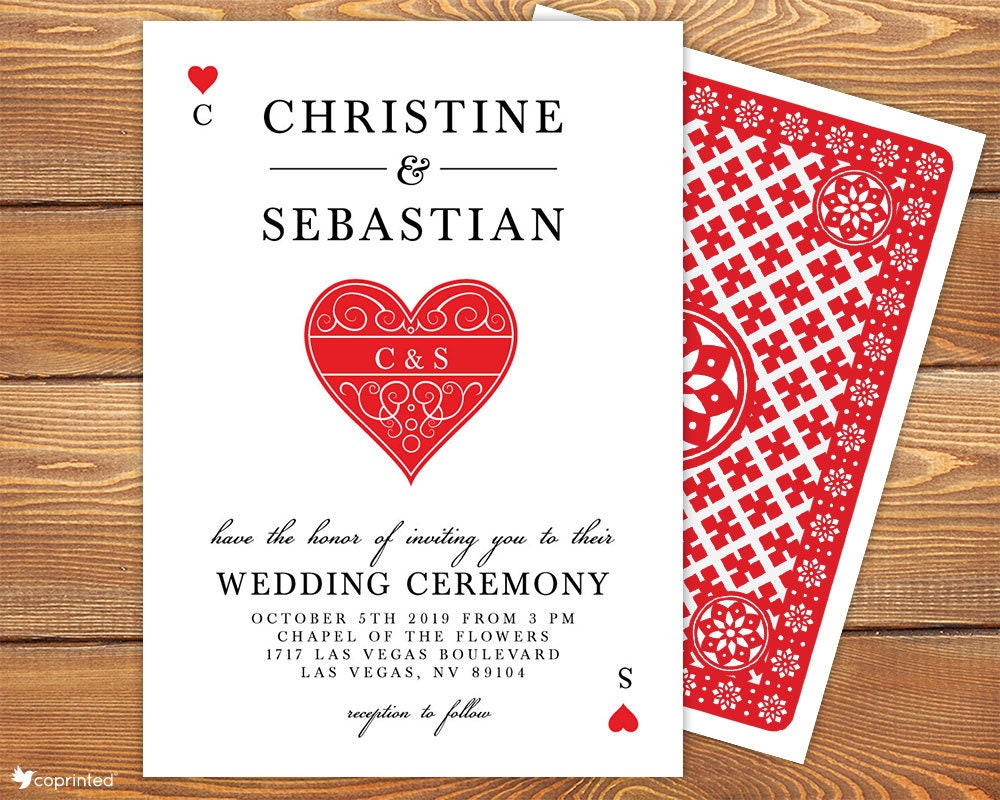 Personalized Las Vegas Wedding Invitation Set Casino Wedding | Etsy