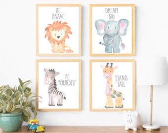 nursery animal art etsy