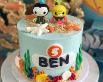 Octonauts Inspired Cake Fondant Decorating Kit