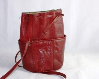 0e8e4a9059da7 Leder Beutel Handtasche Beuteltasche Italy Giesse