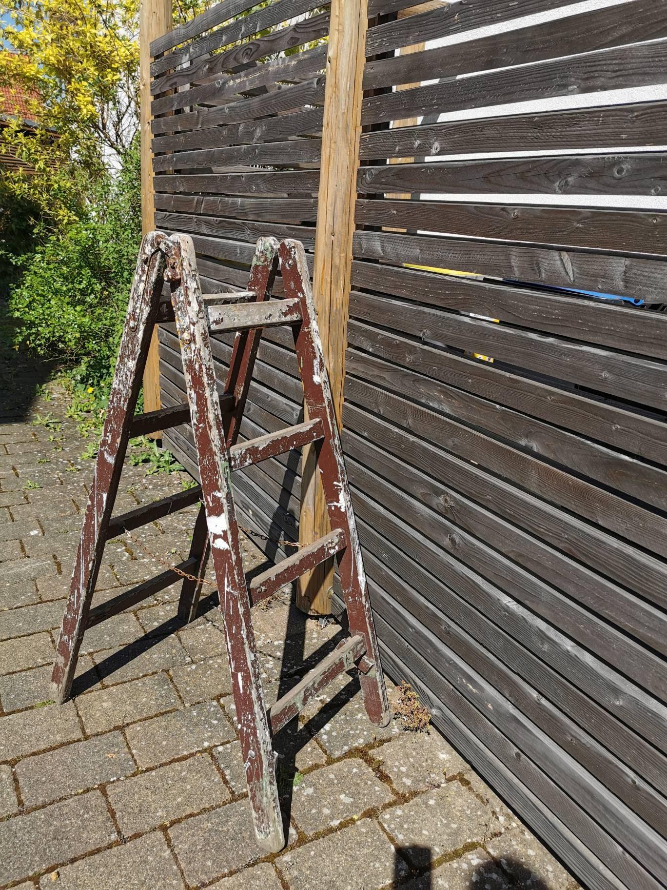Vintage Wood Ladder Towel Rack In Shabby Design Shelf Decoration Wood Ladder Pimp It Up