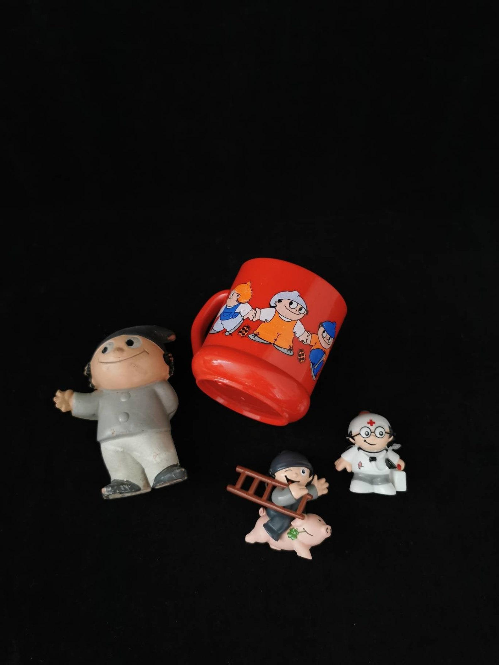 Mainzelmännchen Cup Mug ZDF 200ml West Germany Plastic 80s Set Collector