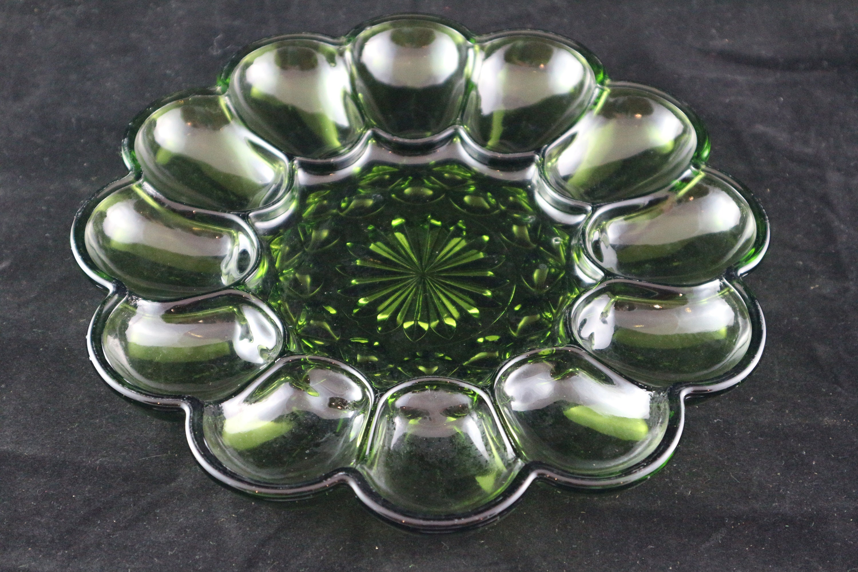 20th Century Just 1950s Bowl Anbiet Shell Rockabilly Design Vintage Serving Plate 50s Glass Sale Price Antiques