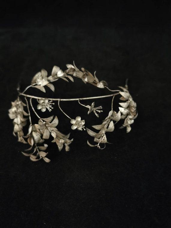 """Old Wedding - Jewelry """"Silver Wedding"""" Diadem Crow"""