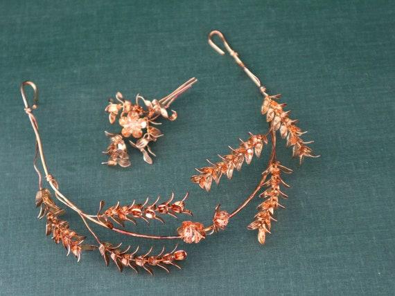 "Old wedding jewelry ""Golden Wedding"" Diadem and br"