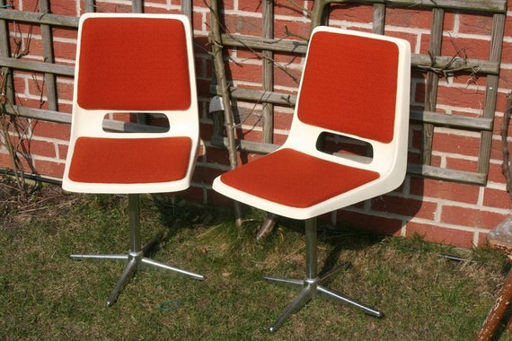 Design 70er Stühle Drehstuhl Schalenstühle Retro | Etsy