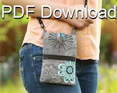 PDF Cell Phone Purse Beginner Sewing Pattern | Small Purse | Free XL Cutting Size PDF Included