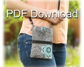 PDF Cell Phone Purse Sewing Pattern | Small Purse | Free XL Cutting Size PDF Included