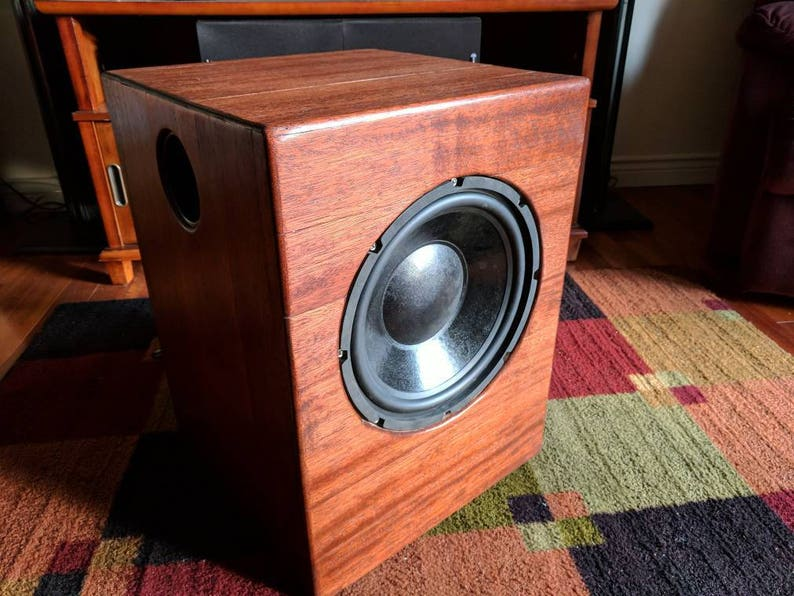 Mahogany home theater subwoofer