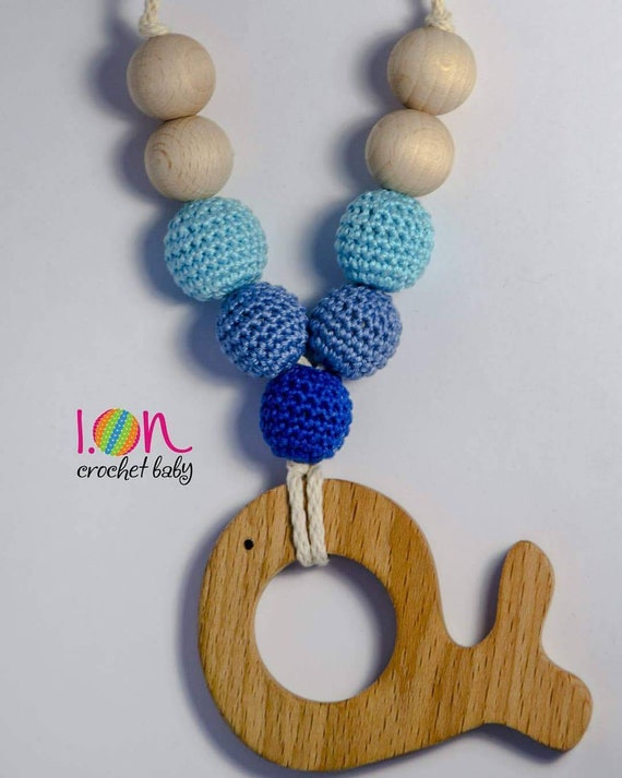 Nursing Necklace with wooden pendant