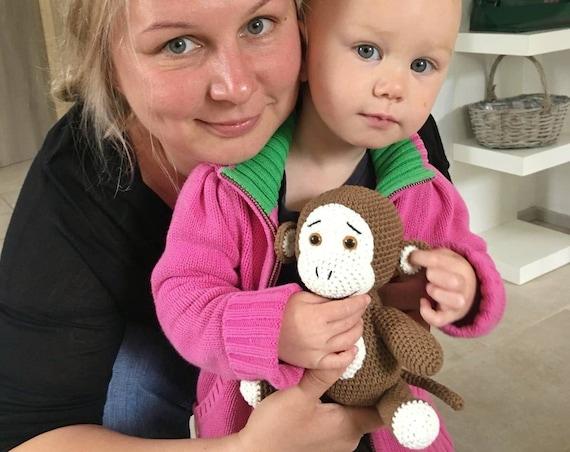 Crochet monkey, crochet monkey amigurumi, crochet doll