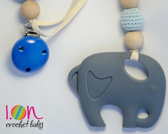 Game Teething babies Natural remedy, game with silicone elephant, teether for fridge teething