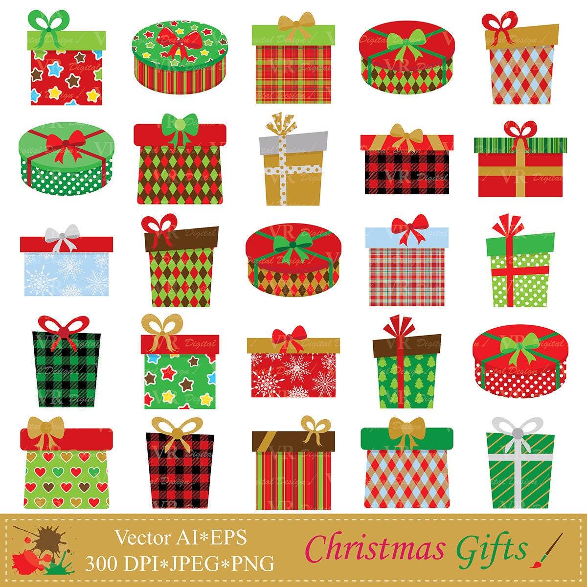 Weihnachten-Geschenke-Clip-Art Weihnachten Geschenke | Etsy