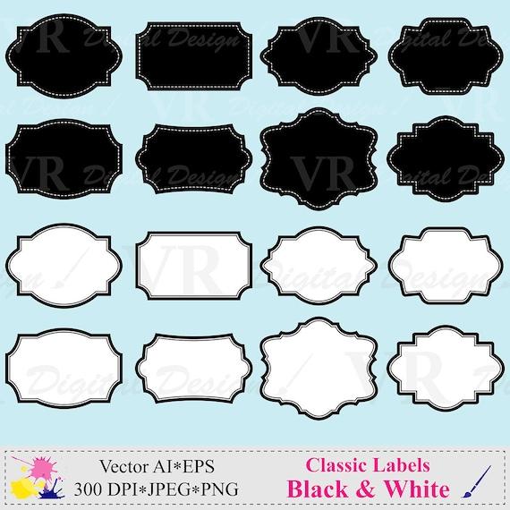 scrapbooking tag label black line frame,frame A-215 black and white frames ON SALE frames clip art instant download bracket frames