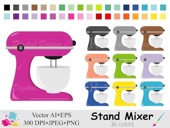stand mixer clip art cake mixer clipart rainbow kitchen etsy etsy