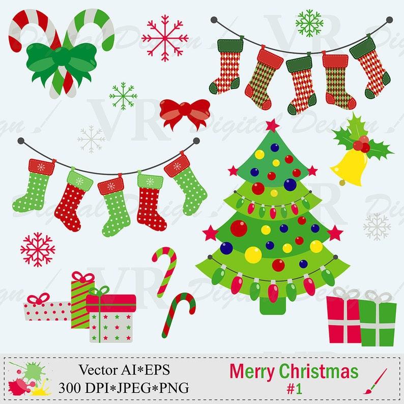 Frohe Weihnachten Clipart.Weihnachtsstrümpfe Frohe Weihnachten Clipart Weihnachtsbaum Clipart Clipart Digitaler Download Vektor Clipart