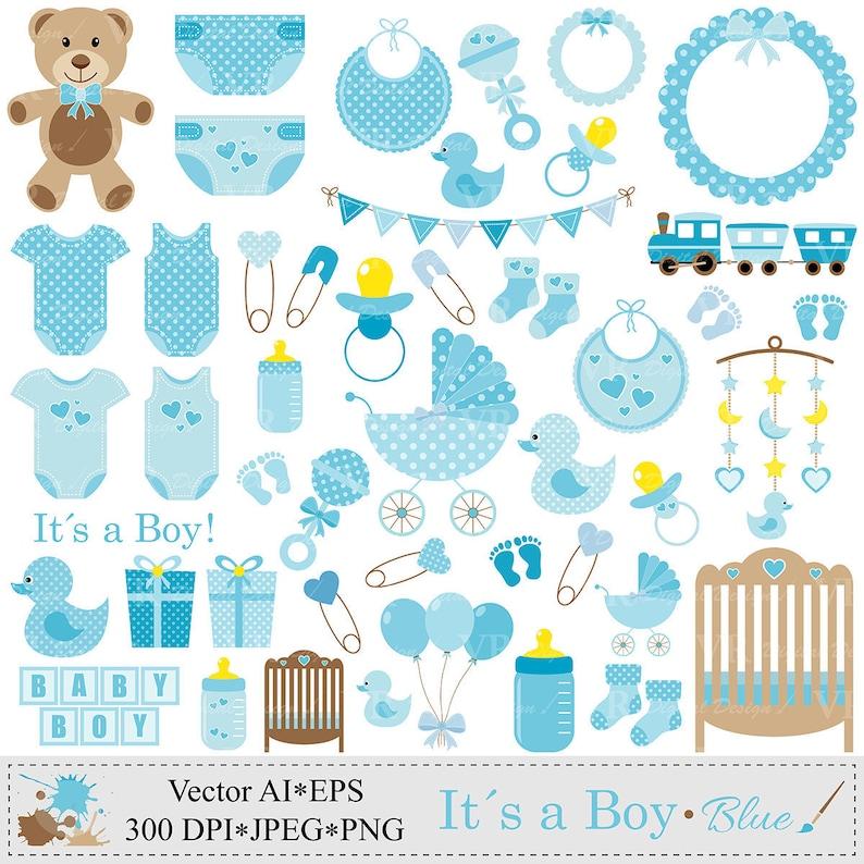 750314b28 Baby Boy Clip Art Blue Baby Shower Clipart Nursery Clip Art