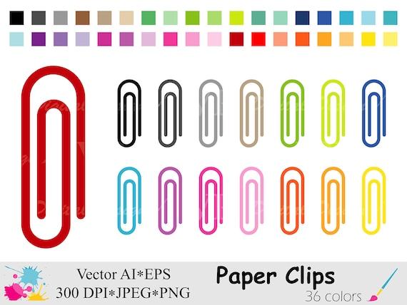 Regenbogen Buroklammern Clipart Schulsachen Clipart Etsy