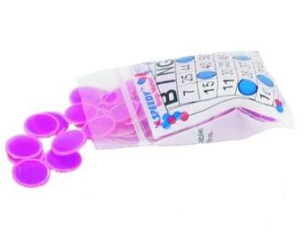 100 Magnetic Bingo Chips, Purple