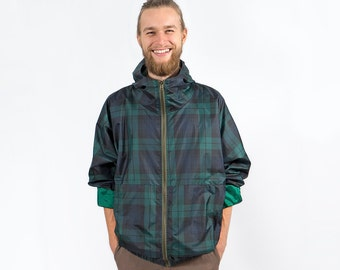 Green checkered oversize jacket