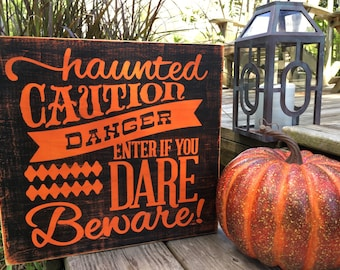 Halloween Decor,Halloween Signs,Haunted House,Caution Sign,Halloween Decorations,Halloween Party,Haunted Mansion,Fall Signs,Autumn Decor