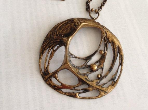 Sten & Laine necklace Spider web bronze Finland