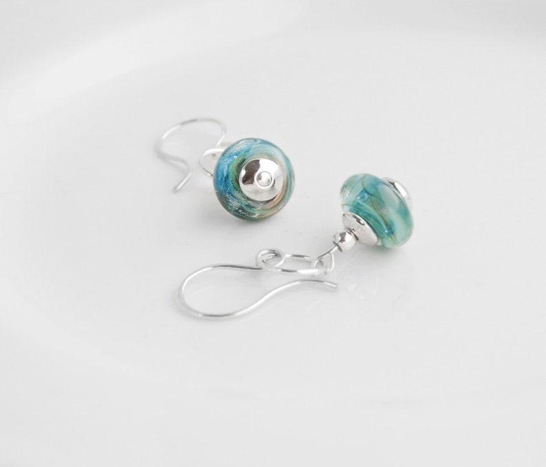 0d44f4ef2 Silver Dangle EarringsSilver and Blue EarringsGreen   Etsy