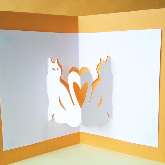 Printable 3d pop up cat card template diy card template cat etsy image 0 m4hsunfo