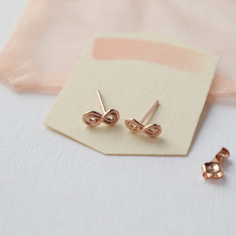 011689d7f Tiny Rose Gold Stud Earrings Hypoallergenic Studs Small | Etsy
