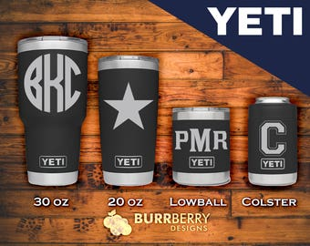 Custom Black YETI - Rambler, Low Ball, Bottle or Colster! - In Stock Ready to Ship