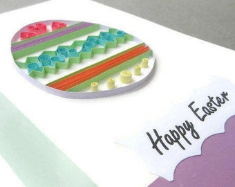 Quilling Easter Card, Paper Quilling Easter Egg, Happy Easter Card, Easter Card, Happy Easter Cards, Easter Egg Card, Easter Greeting Card
