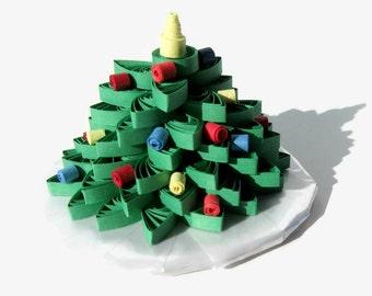 Quilling Christmas Tree, Mini Christmas Tree, Christmas Decoration, Paper Quill Tree, Christmas Tree Decor, Tree Home Decor, Christmas Tree