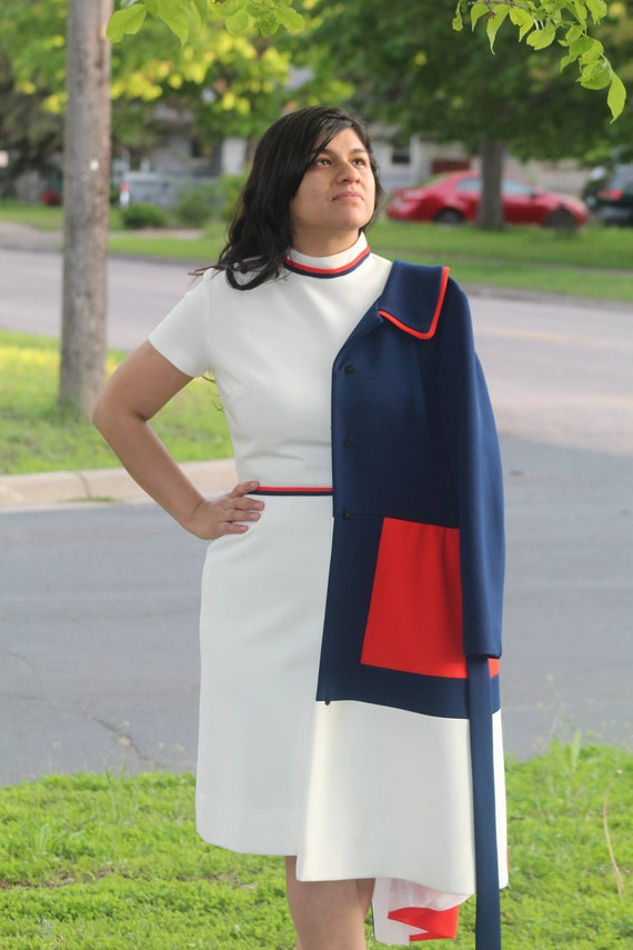 Lilli Ann 60s Colorblock Dress, Jacket, belt