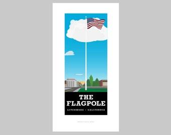 The Flagpole print
