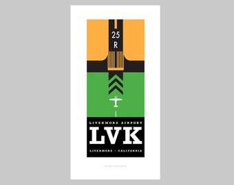 Livermore Airport (LVK) print