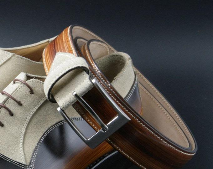 Matching belt man: the perfect hand made belt for your shoe
