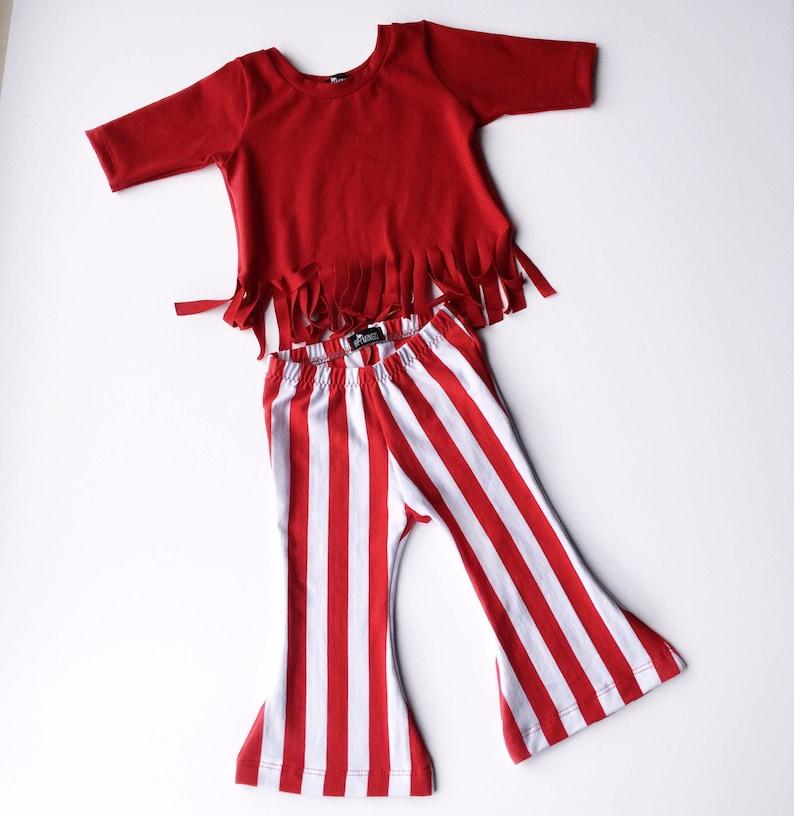 Baby girl red fringe shirt boho girl top red 34 sleeve shirt toddler handmade top trendy girl clothes hippie baby toddler gift